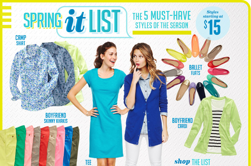 SPRING it LIST | THE 5 MUST-HAVE STYLES OF THE SEASON | Styles starting at $15 | SHOP THE LIST