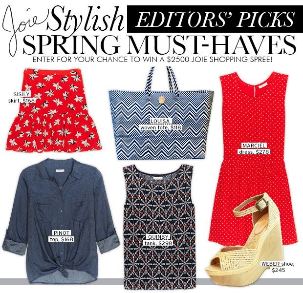 Enter To Win A $2500 Shopping Spree To Joie.