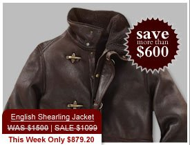 English Shearling Jacket WAS $1500 | SALE $1099 This Week Only $879.20 - SAve more than $600.