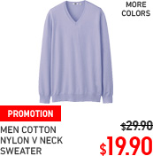 MEN COTTON NYLON CREW NECK SWEATER