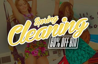 Spring Cleaning: 60% Off Bin