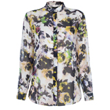 Paul Smith Shirts - Hazy Pansies Print Silk Shirt