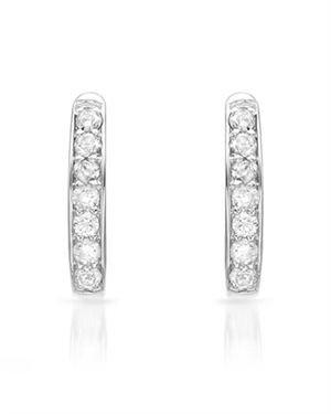L.26 CTW Diamond Earrings Designed in 14K White Gold