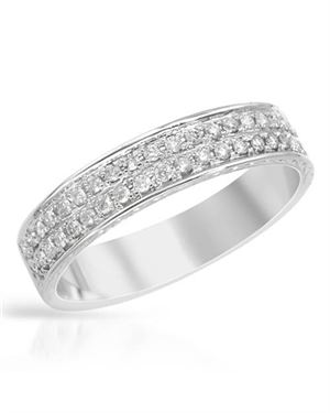 .30 CTW Diamond and White Gold Ring