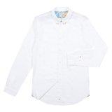 Paul Smith Shirts - White Varied Jacquard Pattern Shirt