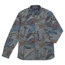 Paul Smith Shirts - Grey Desert Aviator Print Chambray Shirt