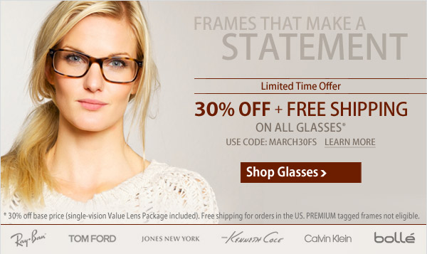 Make Your Staement - 30% Off + Free Shipping!