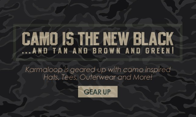 Gear Up with Camo Hats, Tees, Pants and More at KL!