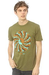The Obey Global Flow Tee in Army Green