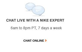 Chat Live with a Nike Expert | CHAT ONLINE