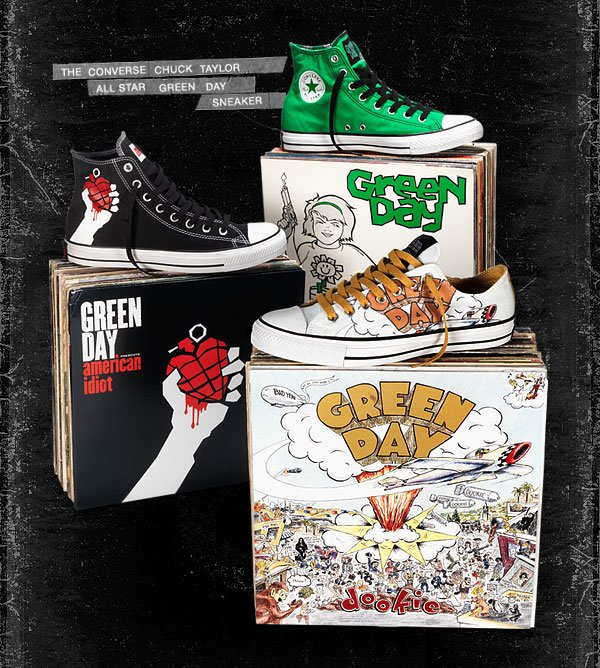 THE CONVERSE CHUCK TAYLOR ALL STAR GREEN DAY SNEAKER