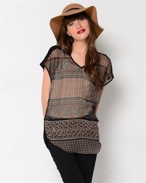 Gentle Fawn Tryst Print Blouse $25