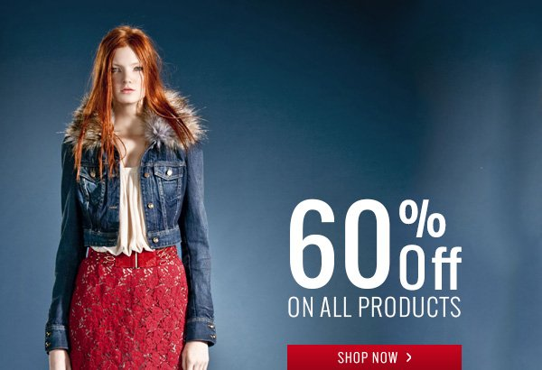 60% off on all products