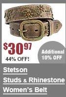 Stetson Studs & Rhinestones Belt