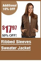Ribbed Sleeves Sweater Jacket