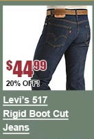 Levi's 517 Rigid Boot Cut Jeans