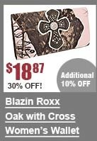 Blazin Roxx Oak with Cross Wallet