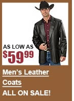 All Men's Leather Coats on Sale
