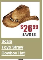Scala Toyo Straw Cowboy Hat