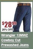 Wrangler 13MWZ Original Fit Prewashed Jeans