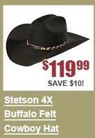 Stetson 4X Buffalo Felt Cowboy Hat
