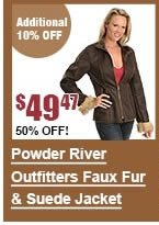 Powder River Outfitters Faux Suede & Fur Jacket
