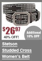 Stetson Studded Cross Pattern Belt