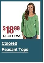 Colored Peasant Tops