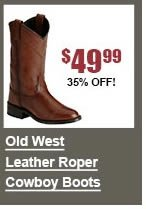 Old West Leather Roper