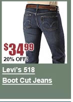 Levi's 518 Boot Cut Jeans