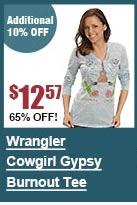 Wrangler Cowgirl Gypsy Burnout Tee