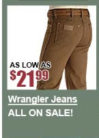 All Men's Wrangler Jeans on Sale