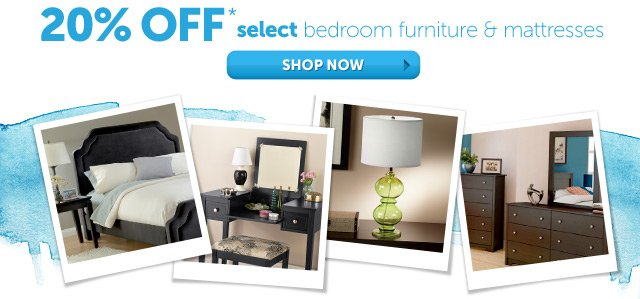 20% OFF* select bedroom furniture & mattresses - Shop Now