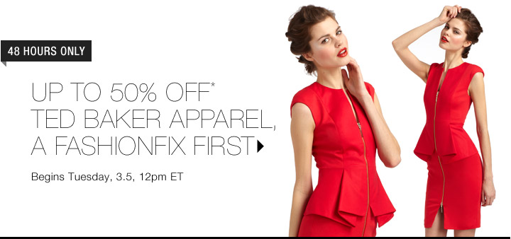 Up To 50% Off* Ted Baker Apparel…Shop Now