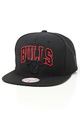 The Chicago Bulls Blacked Out Snapback Cap in Black