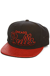 The Chicago Bulls Script Snapback Cap in Black