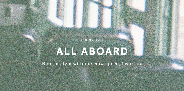 Spring 2013: All Aboard