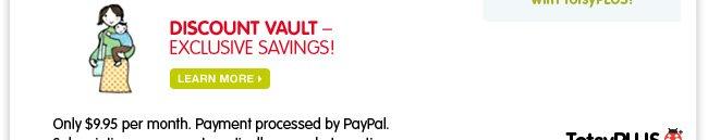 Discount vault - Exclusive savings!