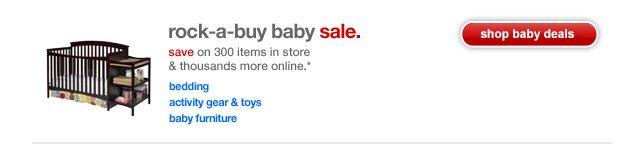 Rock-a-buy baby sale.