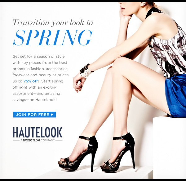 Transition Your Look To Spring | Join For Free