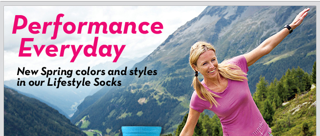 Performance Everyday - New Spring colors and Styles in our Lifestyle Socks