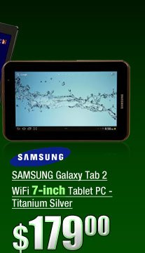 SAMSUNG Galaxy Tab 2 WiFi 7-inch Tablet PC - Titanium Silver