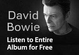 David Bowie - Listen to Entire Album for Free