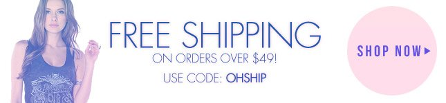 Free Shipping Continues! Free Shipping on orders over $49 | Shop Miss KL Today!