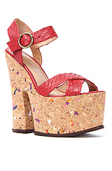 The Rubell Shoe in Red Snake
