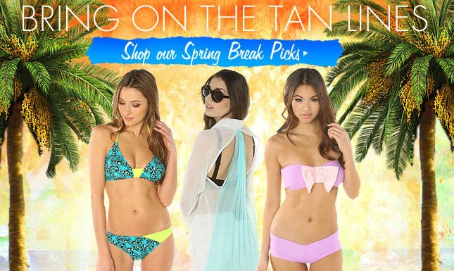 New Tops, Skirts and Accessories for Spring Break!