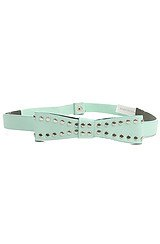The All of a Studded Bow Belt in Mint