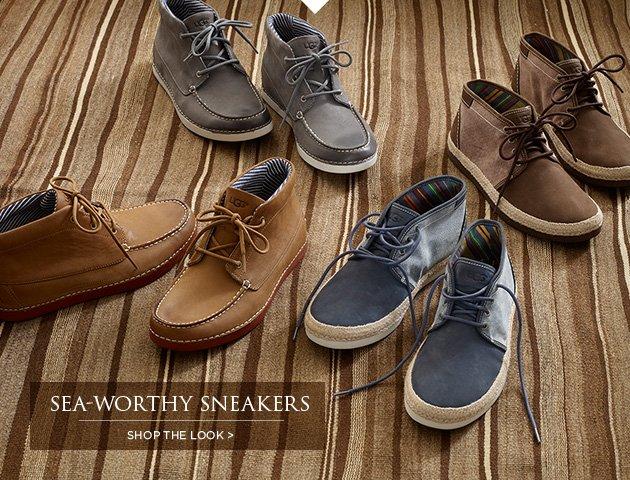 Sea-Worthy Sneakers - Shop the Look >