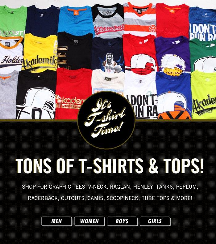 It's Tshirt Time! Shop TSHIRTS for Men, Women, Boys and Girls