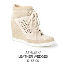 Athletic Leather Wedges